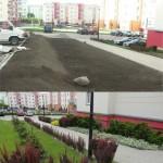 ogród pod blokiem